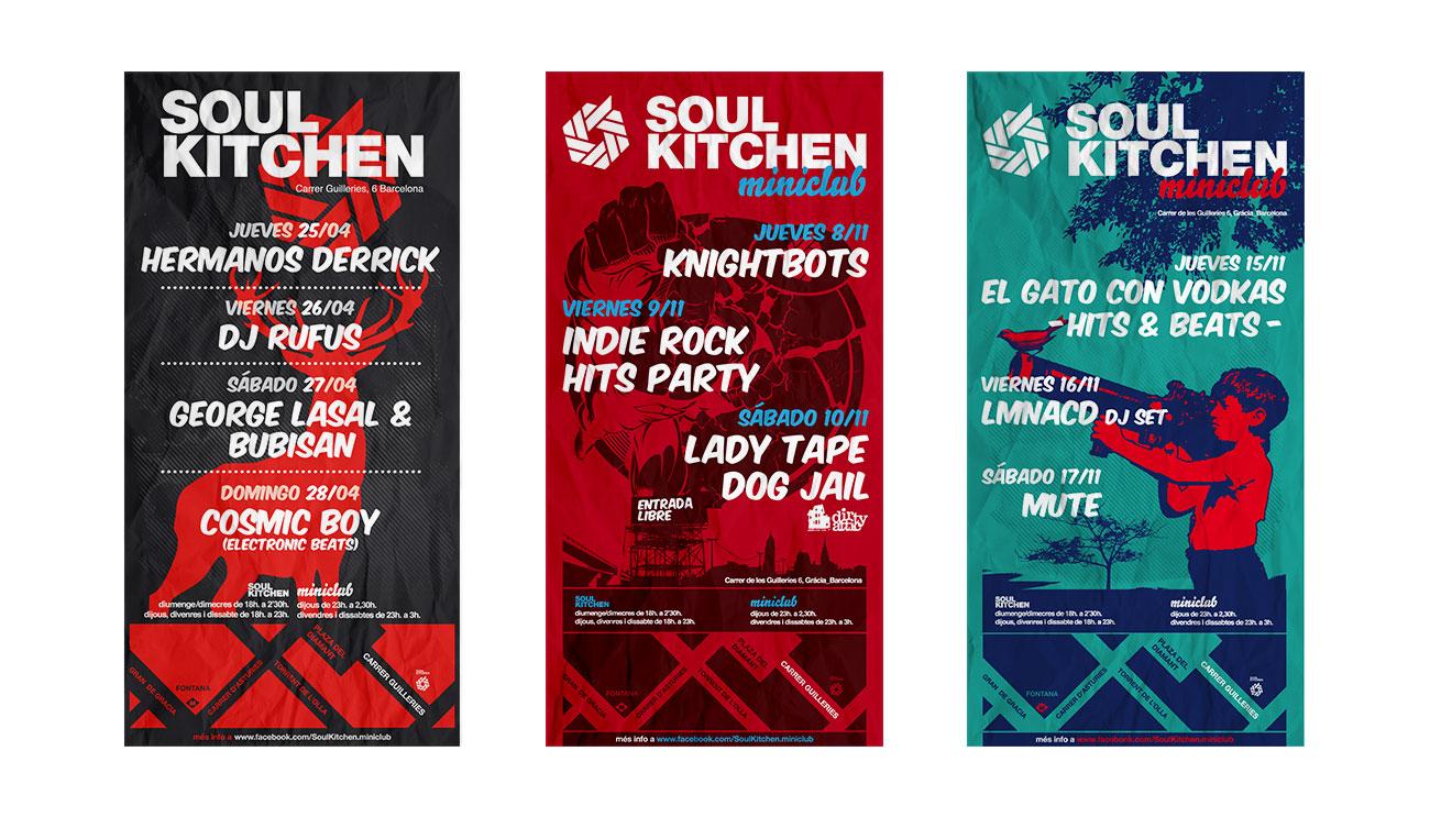 Soul Kitchen Miniclub catelería identidad de marca