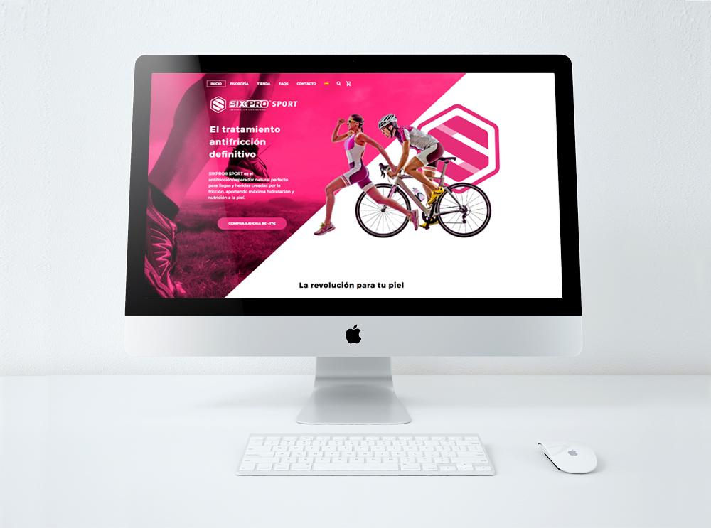 Página rincipal de la web Sixpro creada por Lois Iglesias en Barcelona