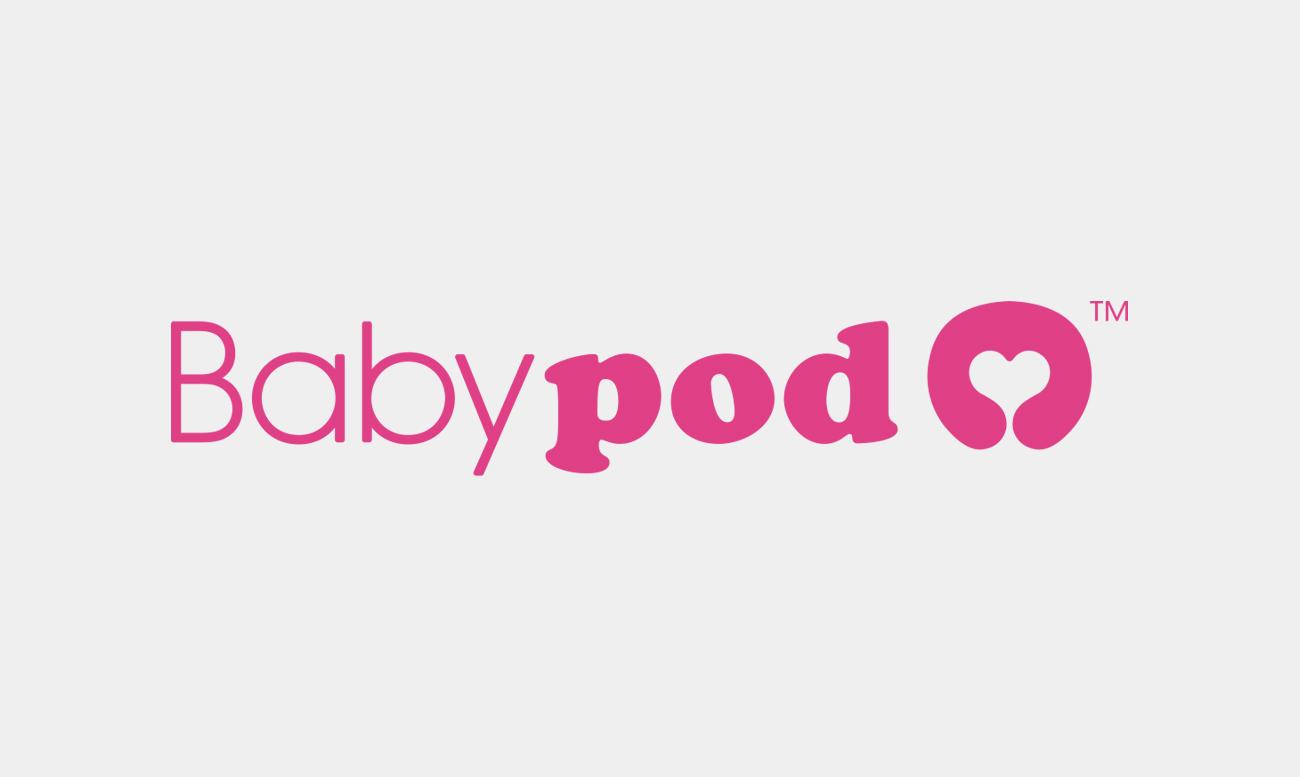 Logotipo completo de producto de obstettricia babypod