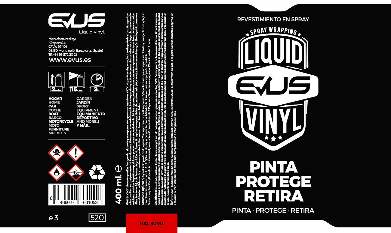 Packaging personalizado para bote de spray. Diseño gráfico completo y desarrollo del producto.
