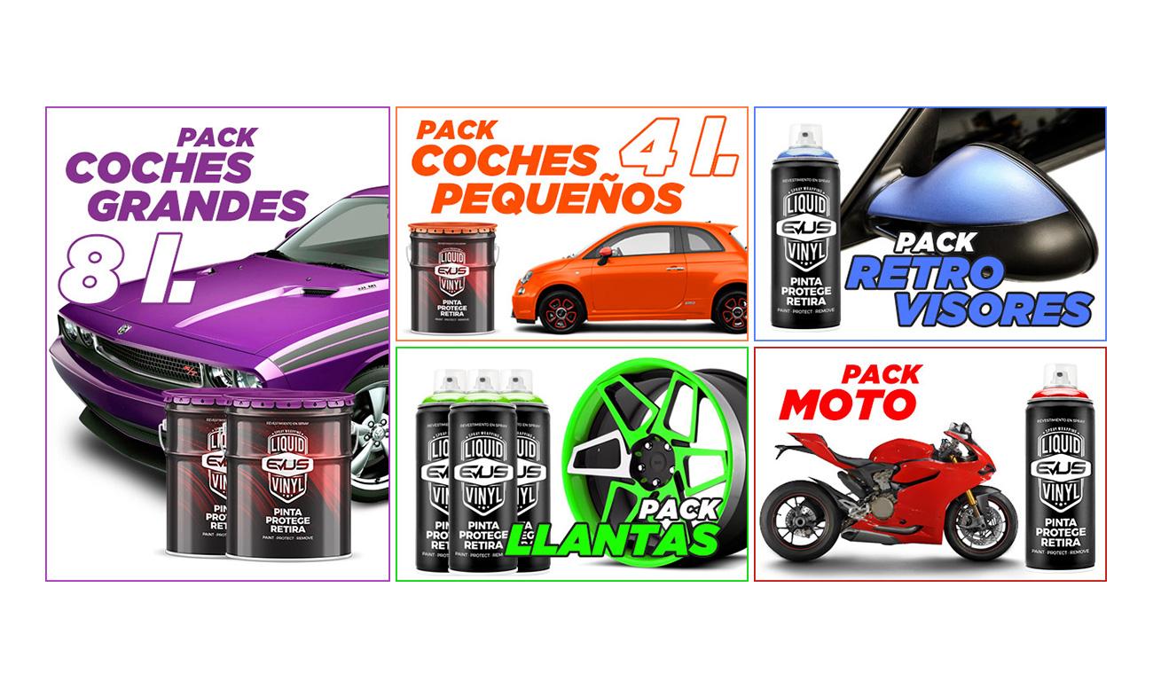 Banners para web packs de ofertas de productos. Diseño gráfico web.
