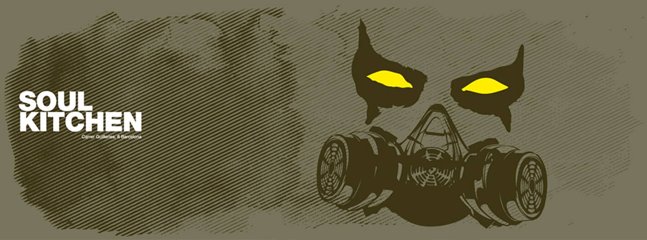 Entre el polvo. Ilustraciones para marca Soul Kitchen Miniclub