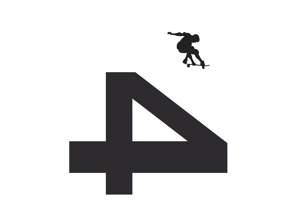 Logo-CU4TRO-clases-de-skate-en-Barcelona-diseñado-por-Lois-Iglesias