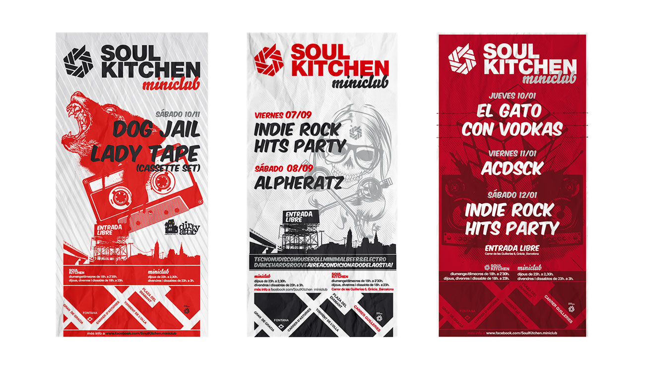 Flyers de varias semanas en Soul Kitchen Miniclub