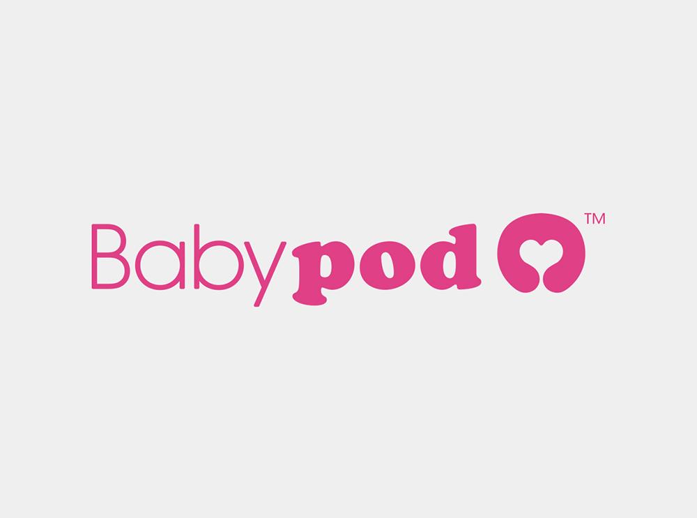 Logo de Babypod por Lois Iglesias diseñador gráfico y web en Barcelona