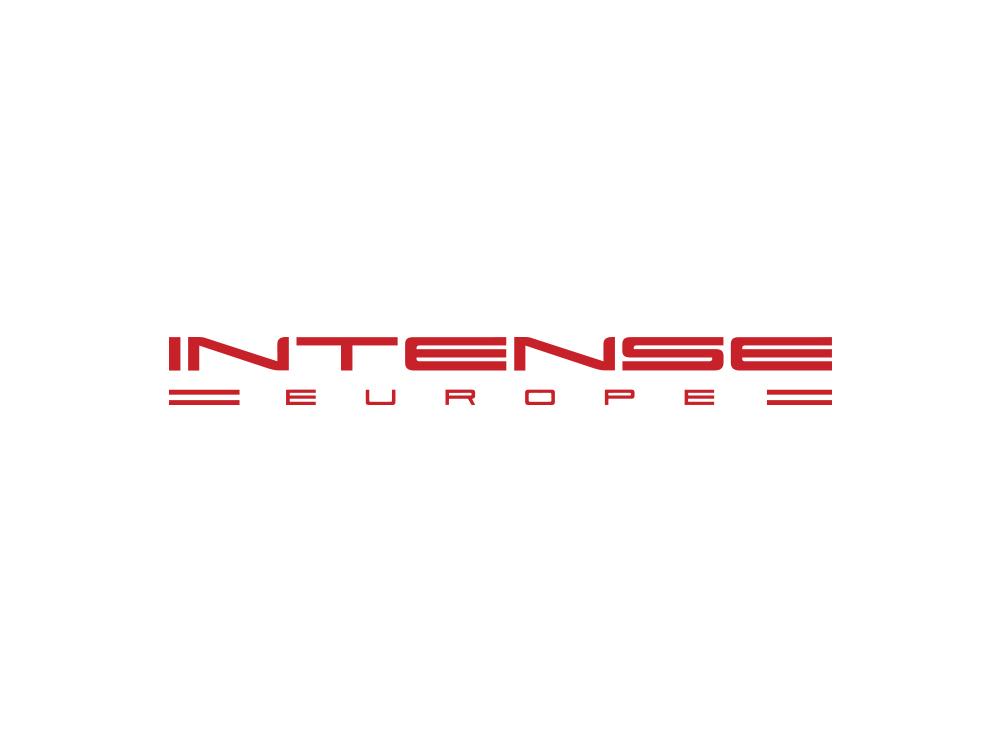 Versión europea de logo creada para Intense Cycles en Òndia Brand Marketing por Lois Iglesias diseñador gráfico.