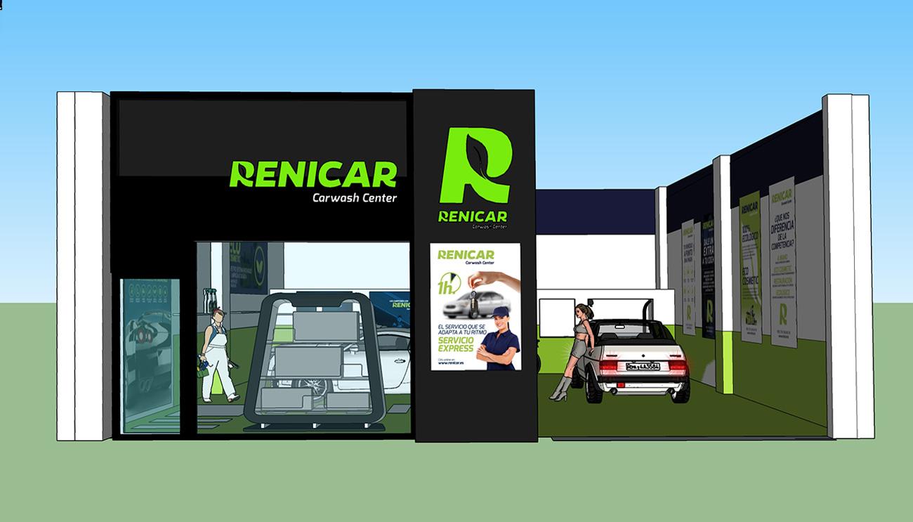 Creación 3D de imagen corporativa implementada en en local comercial