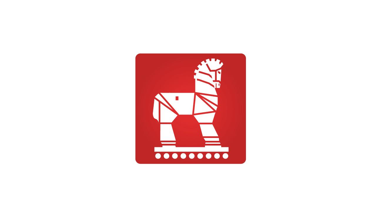 Símbolo gráfico basado en la istoria de la guerra de Troya