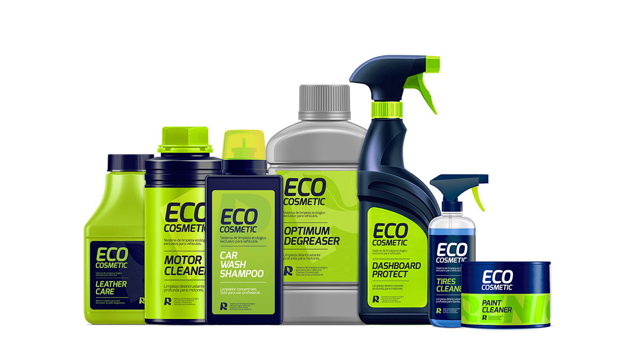 Gama de productos de limpieza ecológica diseñada por Lois Iglesias.
