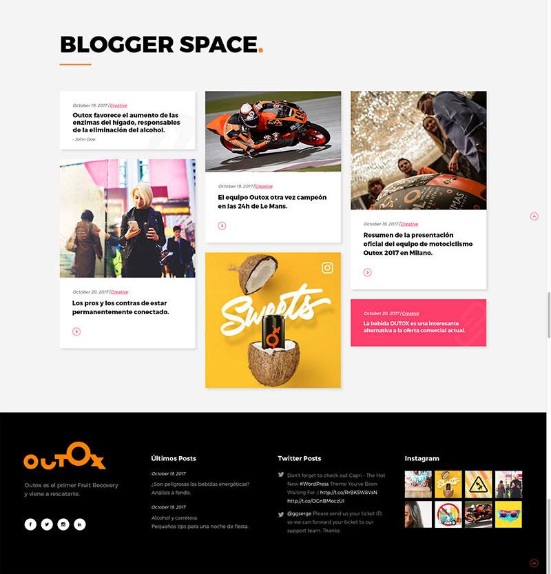 Diseño web en la HOME de los mejores artículos del blog.