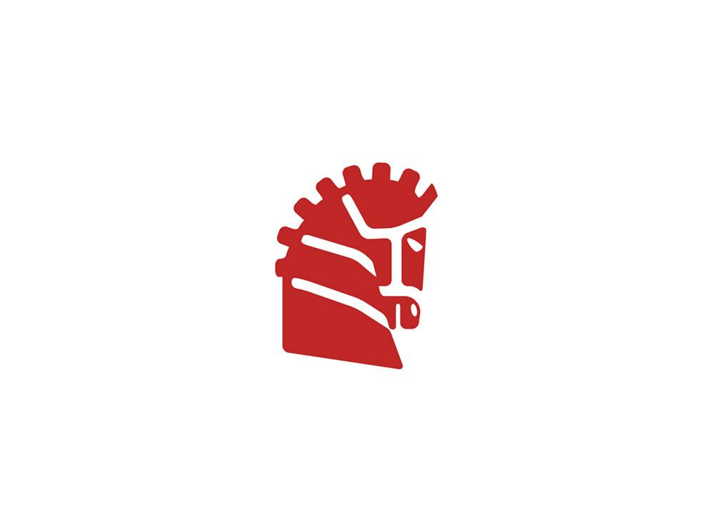 Segunda forma del logo, para espacios reducidos y otras aplicaciones. Diseñado por Lois Iglesias, diseñador grafico freelance en Barcelona.