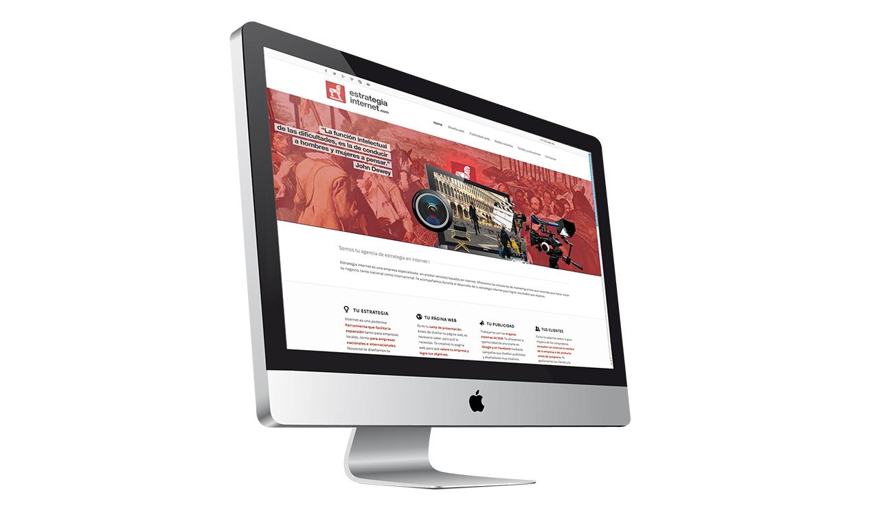 Diseño front-end. Aspecto del website de estrategiainternet.com